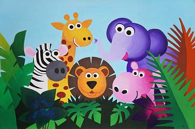 Jungle Art Print by Bav Patel