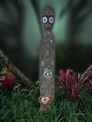 Tom Woolworth Digital Art - Jungle Bear 2 by Thomas Woolworth