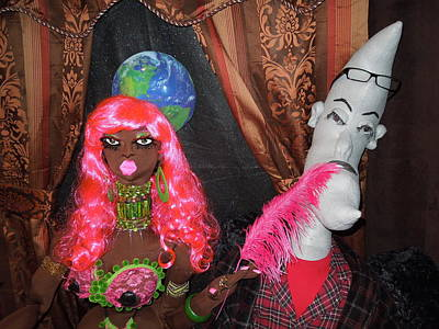 African Cloth Doll Photograph - Jungle Beauty Goddess Sinai And Mr. Moon Man Lover by Cassandra George Sturges