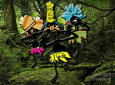 Mixed Media - Jungle Dancers by Marvin Blaine