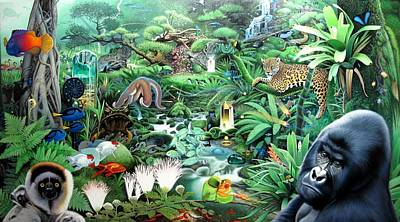 Daniel Pierce Painting - Jungle by Daniel  Pierce