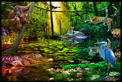 Digital Art - Jungle Dream 2 by Michael Pittas