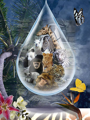 Digital Art - Jungle Drop by Linda Carruth