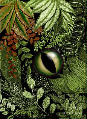 Jungle Eye Art Print by Carol Jacobs