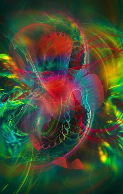 Modern Abstract Digital Art - Jungle by Modern Art Prints