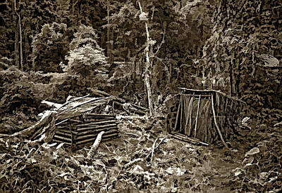 Thailand Photograph - Jungle Homestead Sepia by Steve Harrington