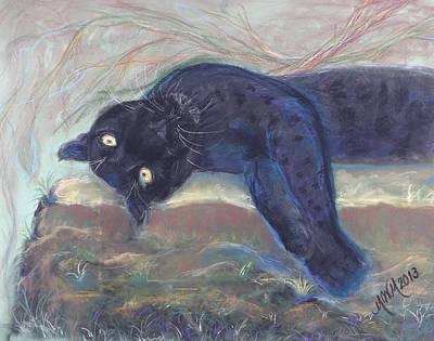 Mayan Drawing - Jungle Kitty  by Michelle Wolff