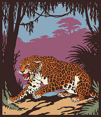 Painting - Jungle Leopard by Gary Grayson