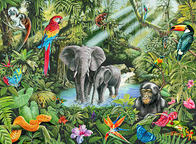Jungle Art Print by Mark Gregory