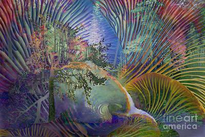 Art Print featuring the digital art Jungle Mushrooms by Ursula Freer