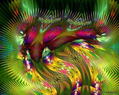 Digital Abstract Art Digital Art - Jungle Of Color by Visual Artist  Frank Bonilla