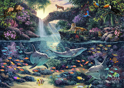Jungle Paradise Art Print