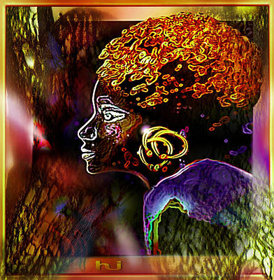 African   Princess Art Print