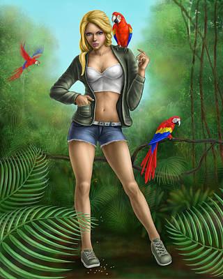 Nature Study Digital Art - Jungle by Silviya Skachkova