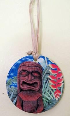 Painting - Jungle Tiki Ornament by DK Nagano