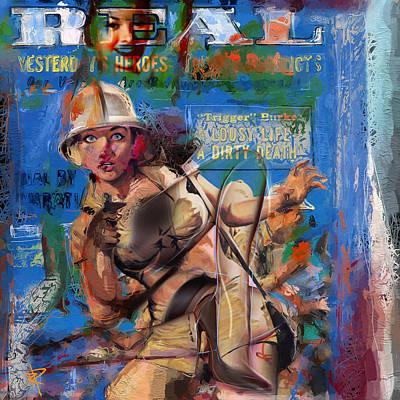 Magazine Mixed Media - Jungle Women by Russell Pierce