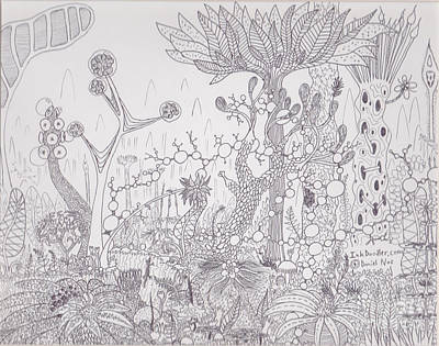 Drawing - Jungles Of Lup by Daniel Noe