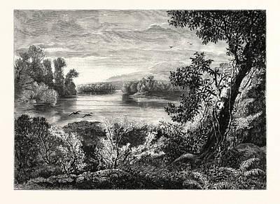 Juniata River, Near Lewistown Art Print