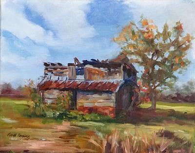 Junior Johnson Lived Here Art Print by Carol Berning