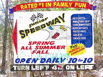 Go Kart Wall Art - Painting - Junior Speedway by Jeelan Clark