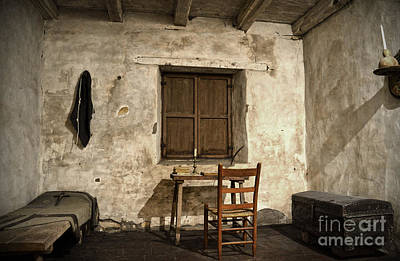 Photograph - Junipero Serra Cell In Carmel Mission by RicardMN Photography