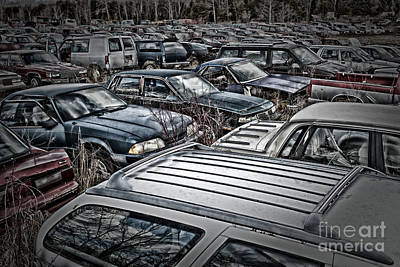 Photograph - Junk Yard by Jim Crawford
