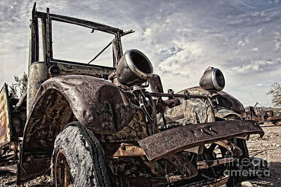 Photograph - Junk Yard Sentinel Stands  by Lee Craig
