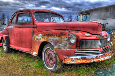 Photograph - Junked 46 Mercury by Willie Harper