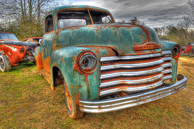 Photograph - Junked Chevy Pickup Truck by Willie Harper