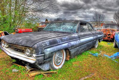 Photograph - Junked Oldsmobile Rocket 88 by Willie Harper