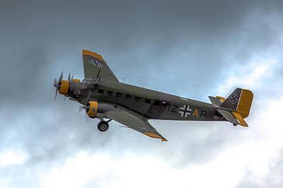 Junkers Ju-52 In Flight Art Print by Bill Lindsay