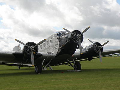 Junkers  Ju-52 Art Print by Ted Denyer