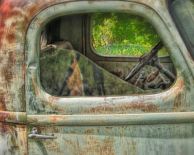 Photograph - Junkyard Art by Joan Herwig