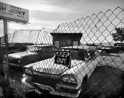 Keep Out Digital Art - Junkyard Blues 2 by Cathy Anderson