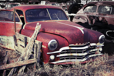Photograph - Junkyard Car by Andrea Kelley