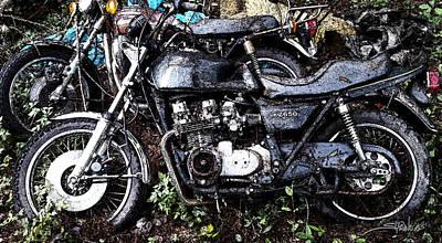 Photograph - Junkyard Kawasaki Kz650 by Michael Spano
