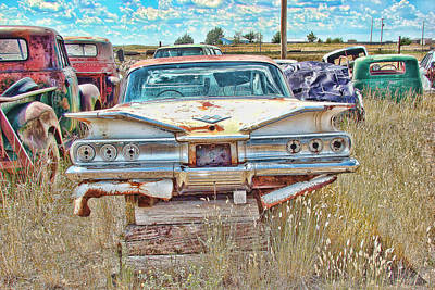 Junkyard Series 1960's Chevrolet Impala Art Print