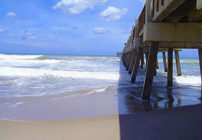 Boarding Photograph - Juno Pier by Carey Chen