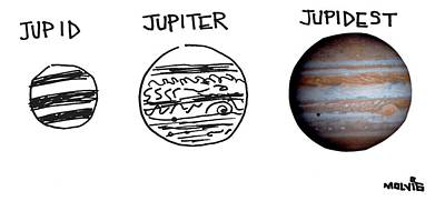 Planets Drawing - Jupid, Jupiter, Jupidest by Ariel Molvig