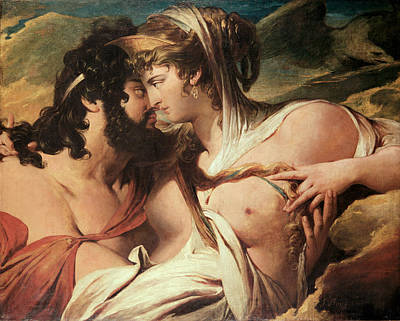 Thunderbolt Painting - Jupiter And Juno On Mount Ida by James Barry