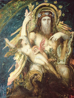 Jupiter And Semele  Art Print by Gustave Moreau