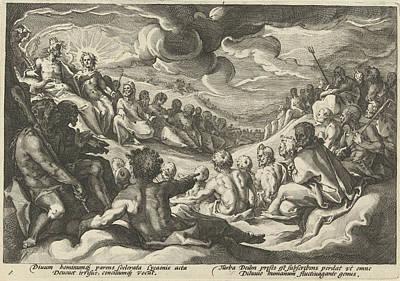 Jupiter Asks The Olympian Gods To Council Art Print
