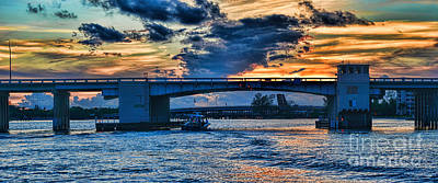 Photograph - Jupiter Federal Highway Bascule Bridge Panorama by Olga Hamilton