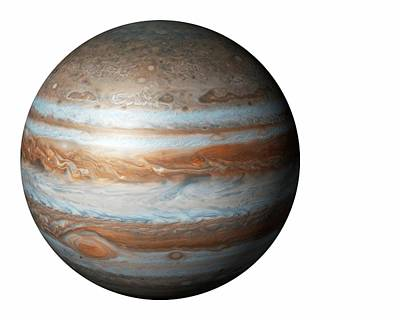 Astrogeological Photograph - Jupiter From Space by Mikkel Juul Jensen