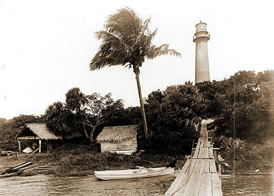 Lighthouse Drawing - Jupiter Light, Jackson, William Henry, 1843-1942, Piers & by Litz Collection