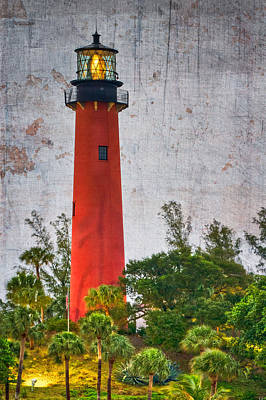 Hobe Photograph - Jupiter Lighthouse by Debra and Dave Vanderlaan