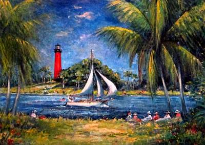 Painting - Jupiter Lighthouse Fl  by Philip Corley