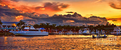 Photograph - Jupiter Sunset Panorama by Olga Hamilton
