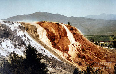 Photograph - Jupiter Terrace Yellowstone National Park by NPS Photo Detroit Photographic Co