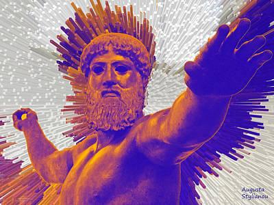 Zeus Digital Art - Jupiter - Zeus by Augusta Stylianou